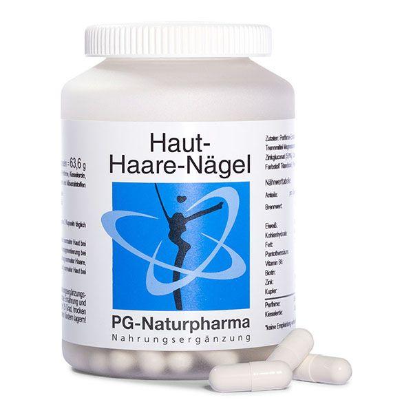 Haut-Haare-Nägel Kapseln mit Biotin, Perlhirse, Zink, B-Vitaminen und Bambus Extrakt - 120 Kapseln