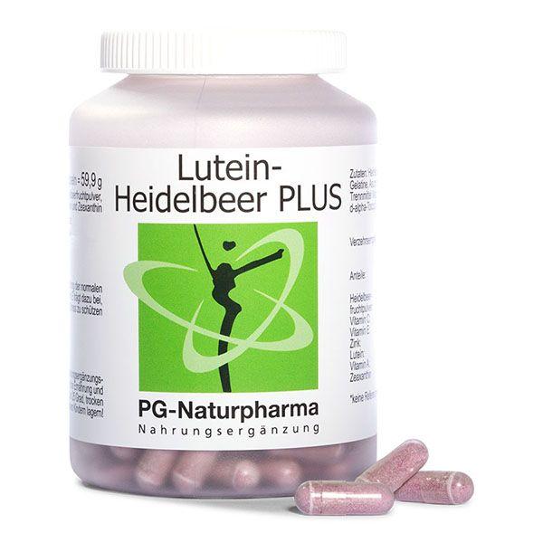Lutein-Heidelbeer PLUS mit Vitamin A, C, E, Zink & Zeaxanthin - 160 Kapseln