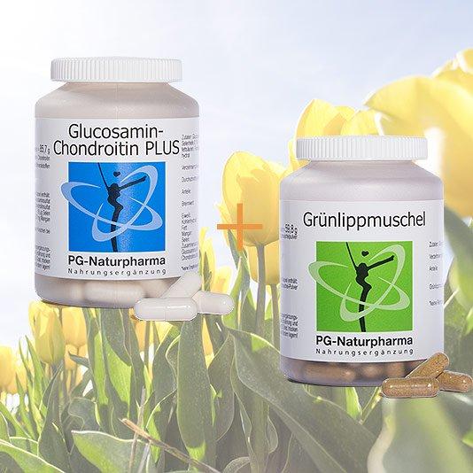 <b>Spar-Paket</b> - <br>Glucosamin Chondroitin & Grünlippmuschel