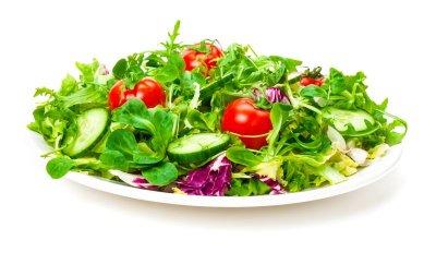 Frischer Salat, Salatteller