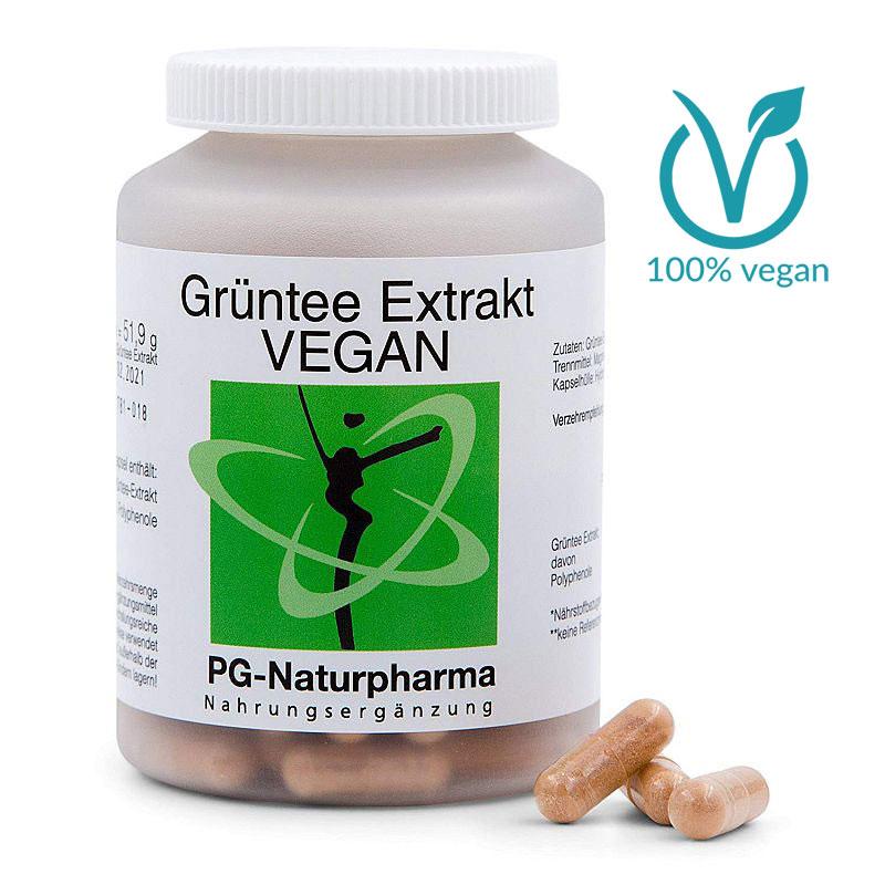 Grüntee Kapseln vegan mit Grüntee-Extrakt - 120 Kapseln