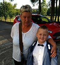 Marion Weske mit Enkel Dean