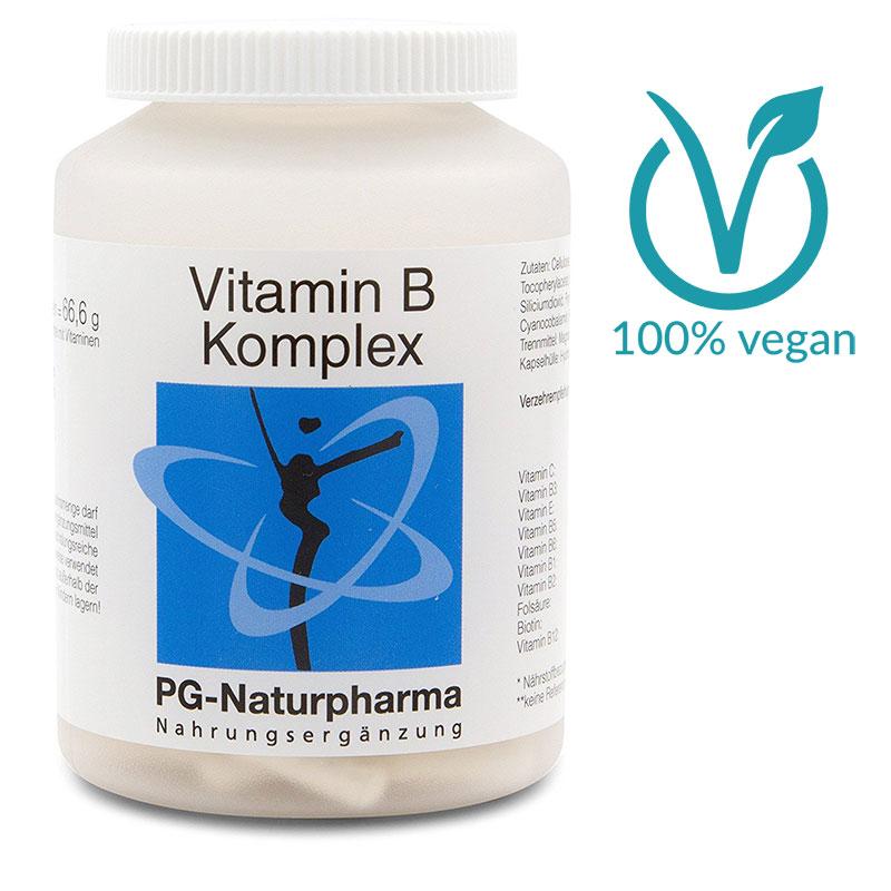 Vitamin B Komplex (vegan) mit allen 8 B-Vitaminen - 120 Kapseln