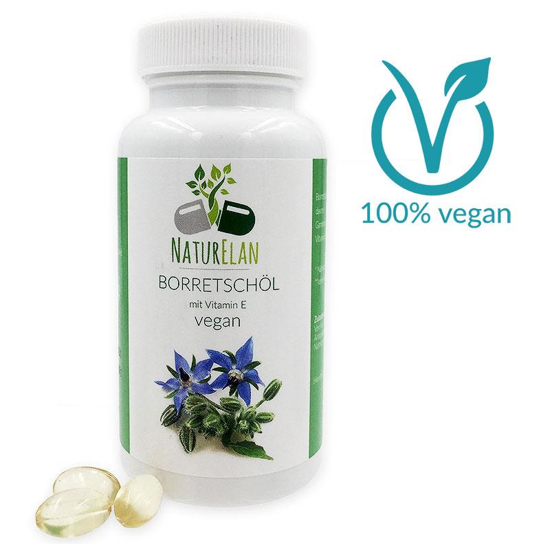 Borretschöl Kapseln vegan mit Vitamin E