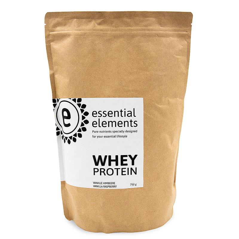 Whey Protein Eiweißpulver - 750g - Vanille & Himbeer
