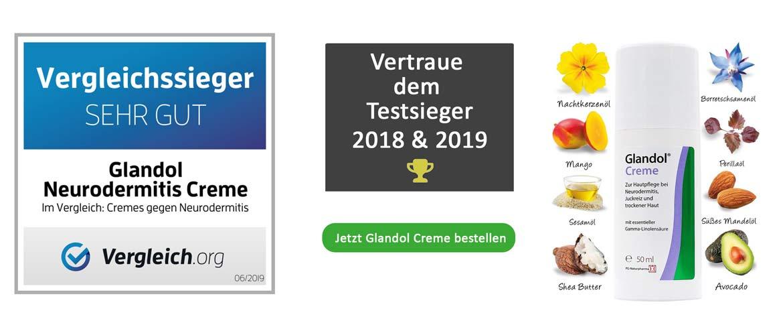 Vergleichssieger 2019 & 2018 - Glandol Creme