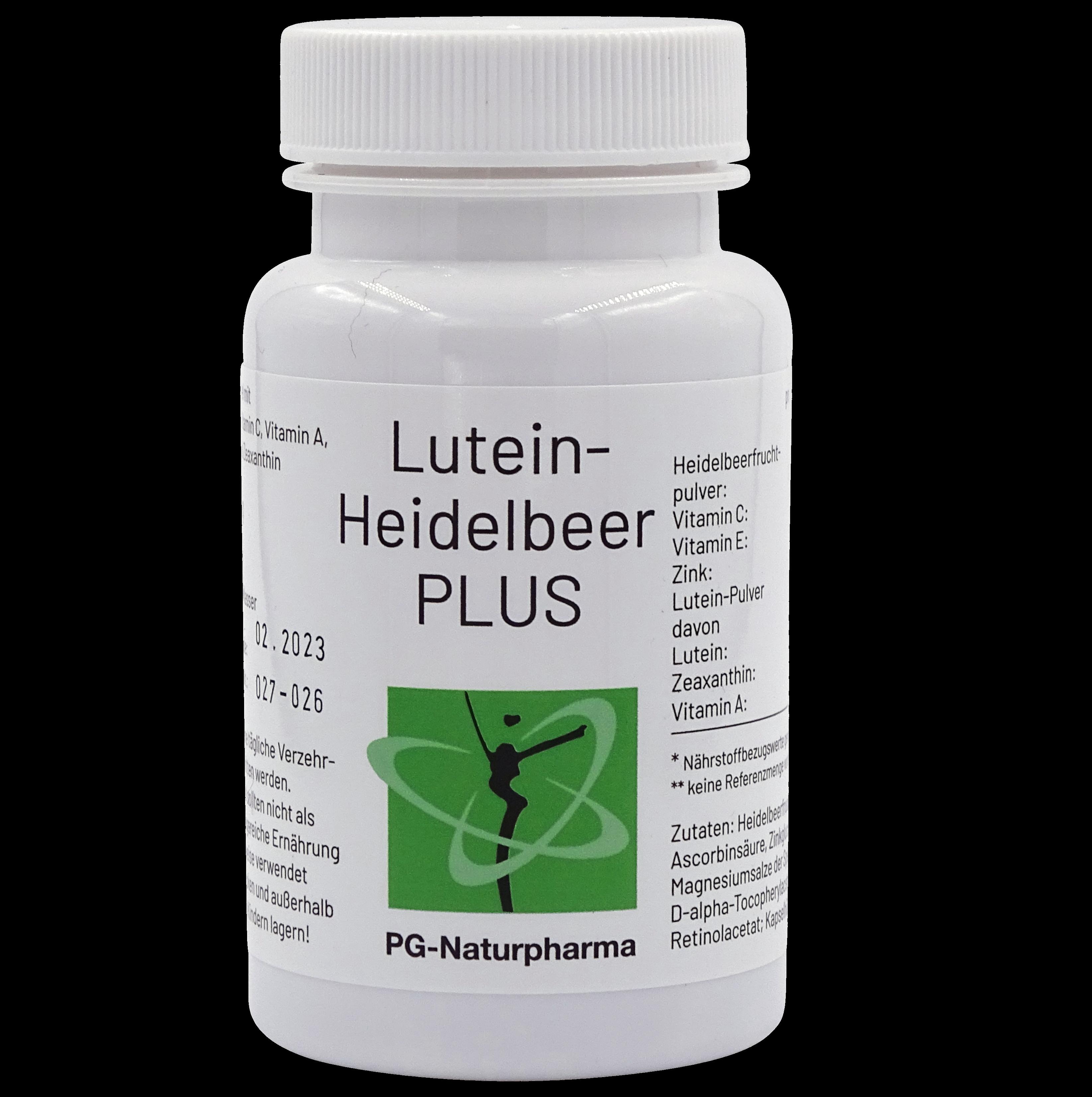 Lutein-Heidelbeer PLUS mit Vitamin A, C, E, Zink & Zeaxanthin - 90 Kapseln