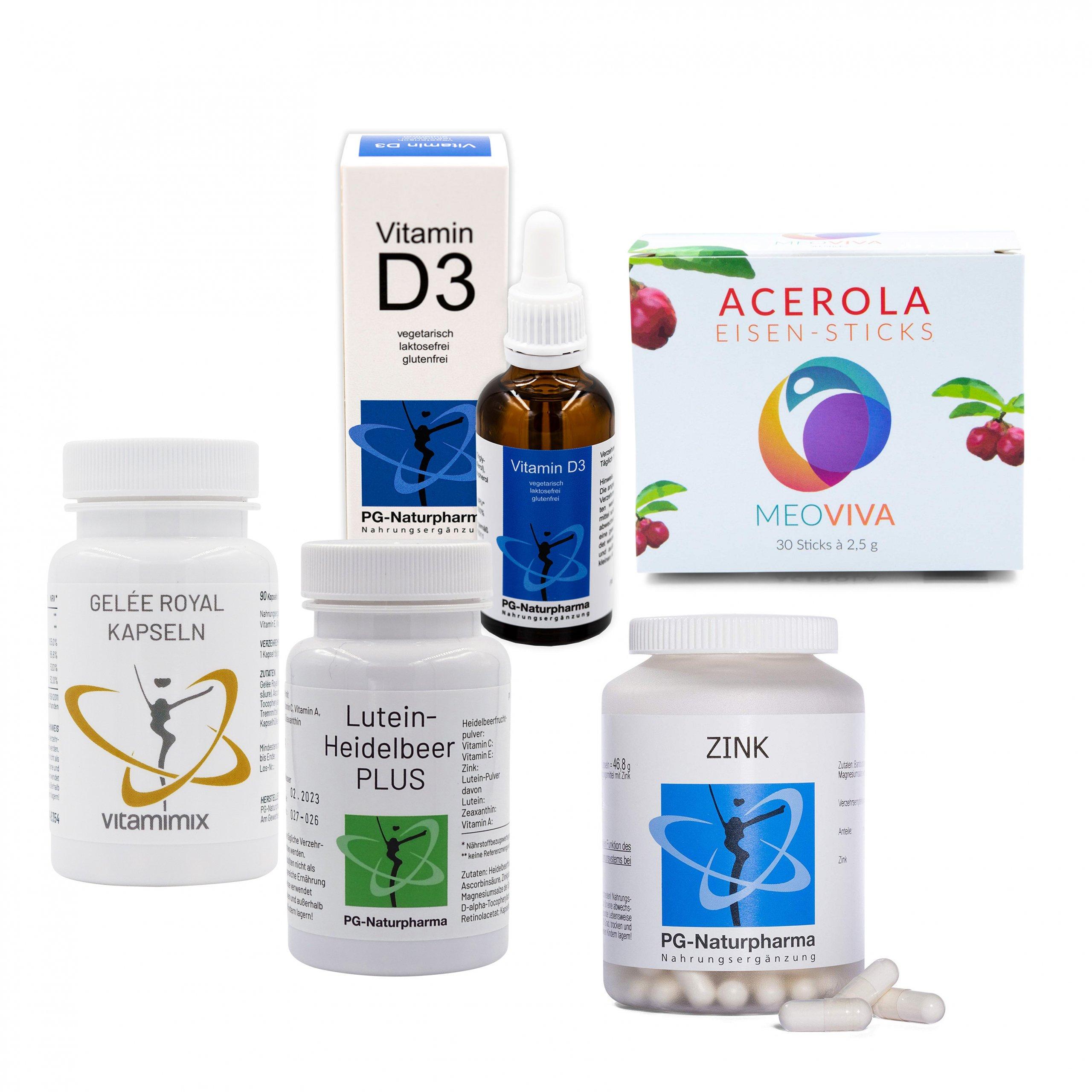 PG 5:1 Box - Vitamine A +B12 + C + D + Zink tragen zu einer normalen Funktion des Immunssytems bei